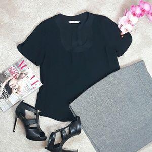Trina Turk Black Dress Top